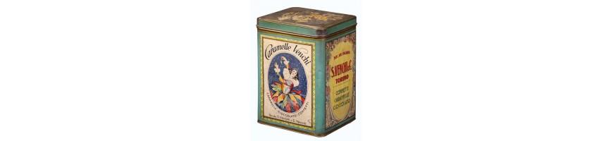 scatole in latta vendita da collezionare -old tin cans vintage